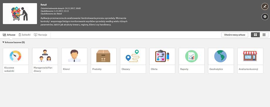 Qlik BI Box - Aplikacja Sprzedażowa