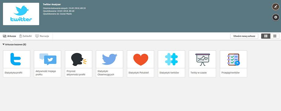 Qlik BI Box - Aplikacja Twitter