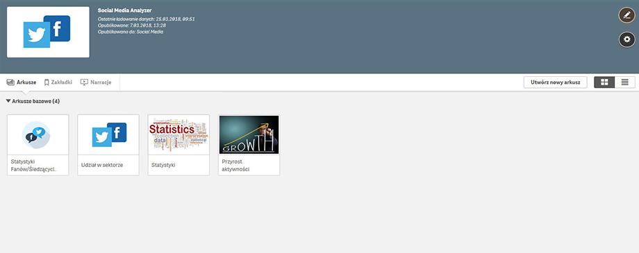 Qlik BI Box - Aplikacja Facebook iTwitter
